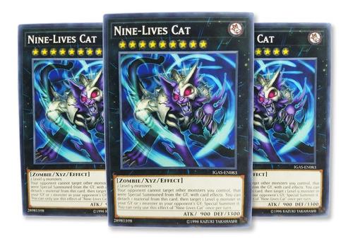 Imagen 1 de 1 de Yugi-oh! Nine-lives Cat Igas-en083 Comun