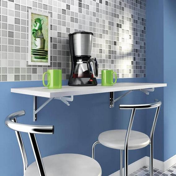 Mesa Cozinha Dobravel De Parede Escrivaninha Cor Branco 45x9