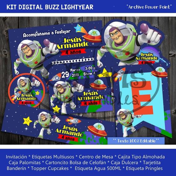Kit Buzz Lightyear Toy Story Invitación Etiquetas Candy