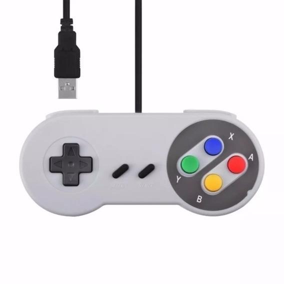 Controle Usb Modelo Super Nintendo