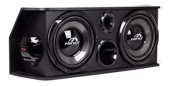 Caixa Automotiva Amplificada Hinor Box Trio Two 250w Rms Som