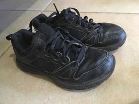 Zapatos Deportivos Negros Para Niño Marca Skechers Talla 31