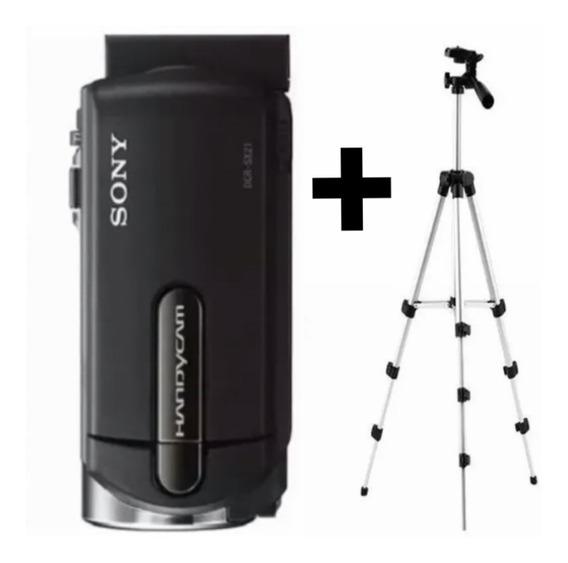 Câmera Filmadora Handycam Sony + Tripé Alumínio Ajustável.