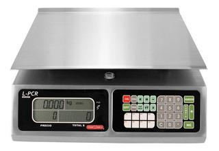 Báscula comercial digital Torrey L-PCR 40 kg 110V/220V plateado