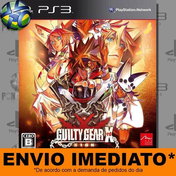 Jogo Guilty Gear Xrd Sign Ps3 Digital Psn Envio Imediato