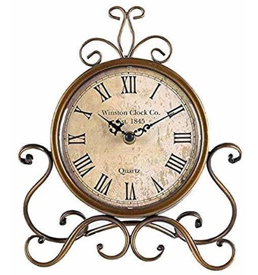 Reloj De Mesa Vintage, Estilo Europeo De Hierro