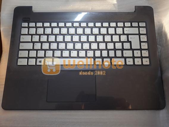 Teclado Para Notebook Vaio Vjc141f11x Prata Com Touchpad