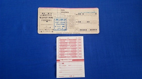 Loteria Esportiva Federal 1973 + Bilhete De Aposta 1979