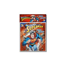 Livro- Superman - Coleção Vamos Colorir! - Kit Livro + Lá