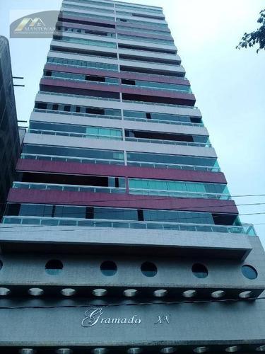 Apartamento Com 2 Dormitórios À Venda, 62 M² Por R$ 345.000,00 - Vila Guilhermina - Praia Grande/sp - Ap2705
