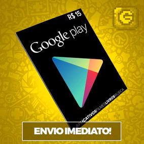 Cartão Play Store Google Gift Card R$ 15 Reais Android