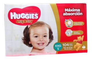 Pañales Huggies Snug & Dry Etapa 5 (xxg) Caja De 104 Pañales