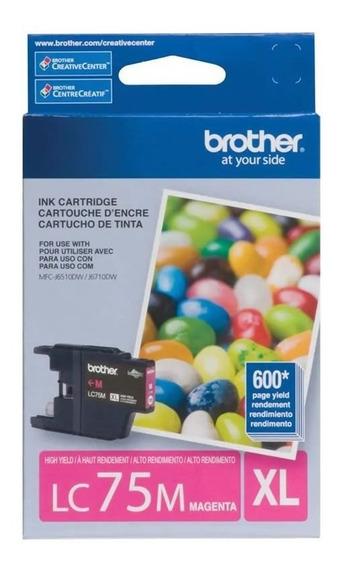 Cartucho De Tinta Brother Lc75m Magenta 16784