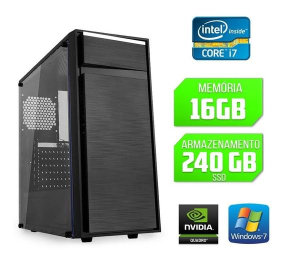 Computador Gráfico 3d Quadro Intel Core I7 16gb Ssd 240 Win7