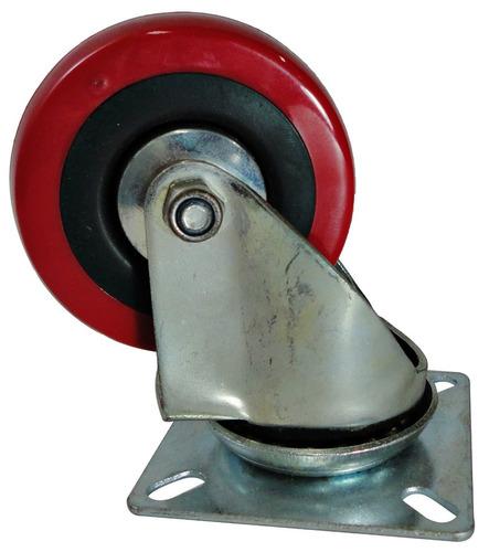 Rodachines 2 1/2\\\'\' Plano Rojo T/roller 65mm