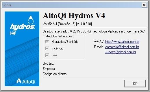 Software Hydros V4 - Instalações Hidráulicas