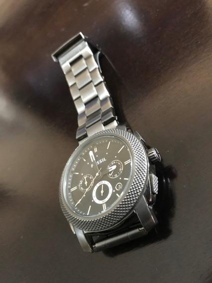 Relógio Fossil Fs4662 Todo Em Aço Inoxidável