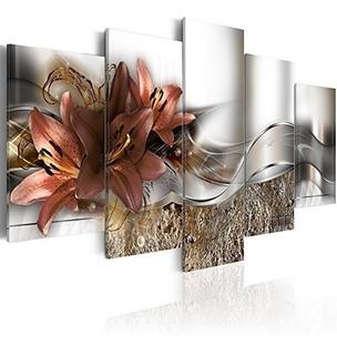Konda Art - Arte Floral De Lienzo Pinturas Modernas Para Dec