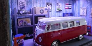 Diorama Volkswagem Kombi Com Iluminação De Led