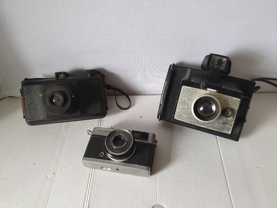 Câmeras Fotográficas Lote Com 3 Para Tirar Peça Ou Decoração