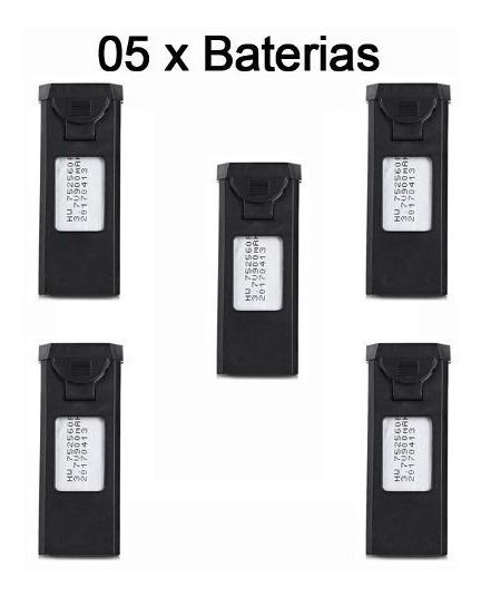 5 Bateria Visuo Xs809hw 3.7v 900mah Super Promoção Frete Gra