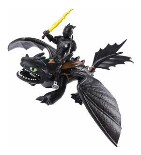 Dragons Con Jinete Y Acc. Int 66621 Original Entrenar Dragon