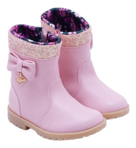 Bota Infantil Menina Baby Boot Rosa 2119083 Ortopé