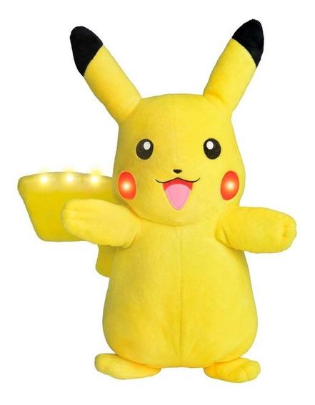 Pelúcia Pokémon Pikachu Power Action Com Luz E Som - Dtc