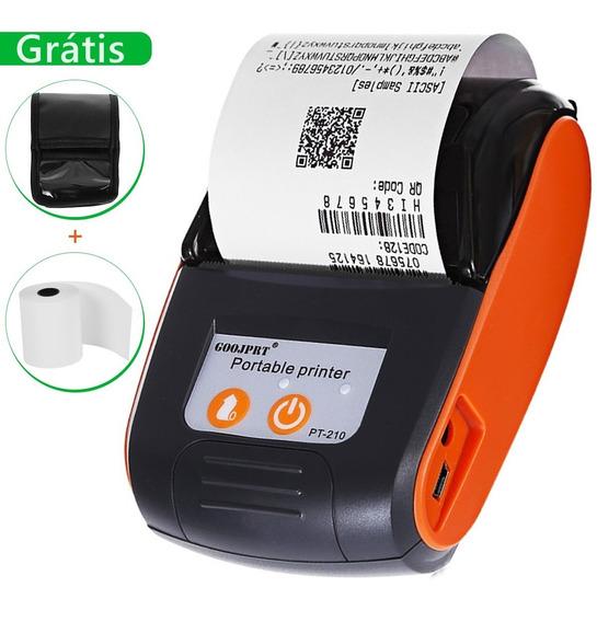Mini Impressora Portátil Sem Fio Android Ios Bobina E Case