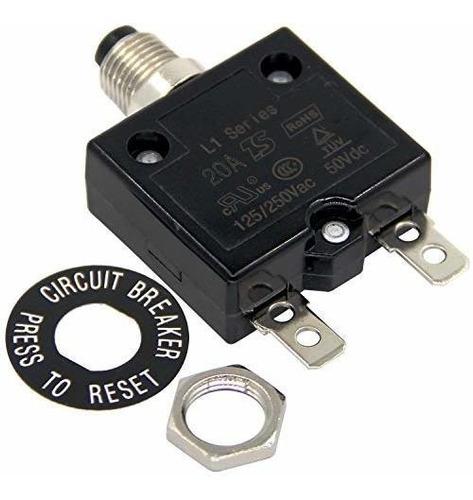 Rkurck 125-250v Ac 50v Dc Disyuntor De Circuito De Botón Pul