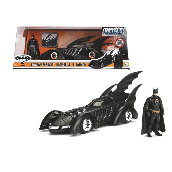 Vehiculo Dc Batimovil Batman Forever Con Figura Batman 1:24