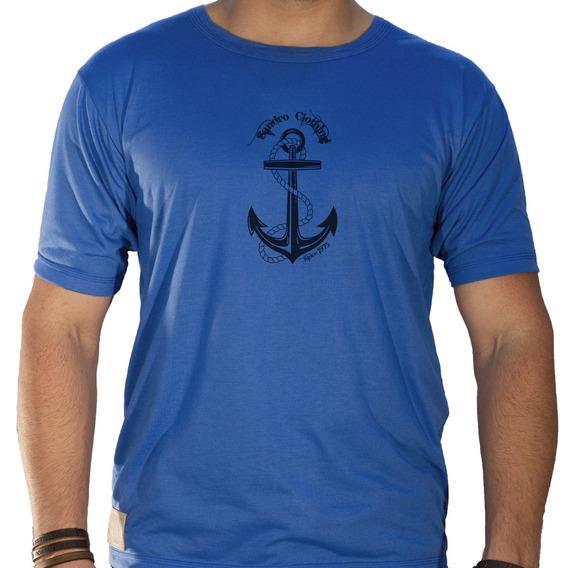 Camiseta Masculina Sandro Clothing Âncora Azul