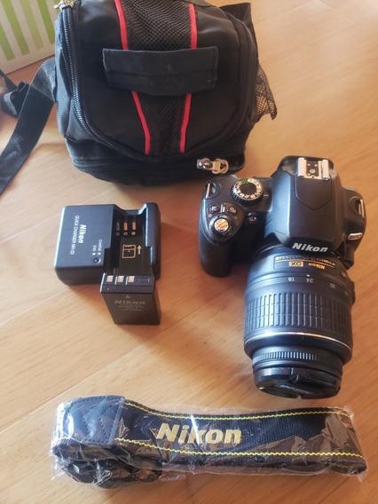 Nikon D60 Con 18-55 Muy Poco Uso