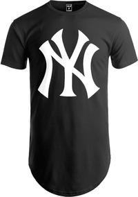 7cec5f768e Camiseta Longline Camisa Swag New York