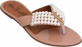 Sandália Preta Verniz Sapato Feminino Rasteirinha Chinelinho
