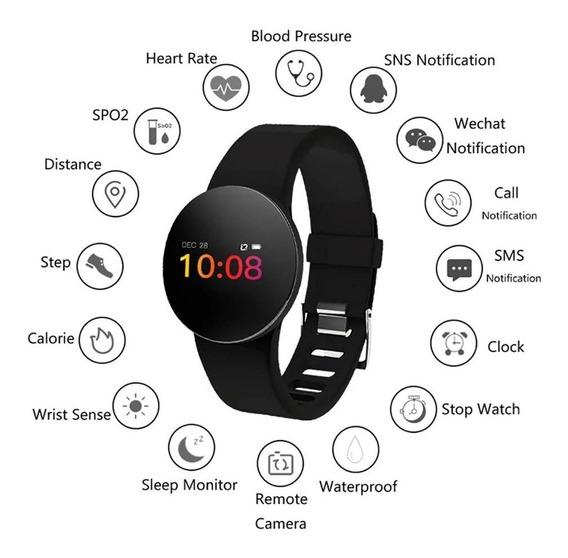 Relógio Inteligente- Mede Pressão Arterial Android- iPhone