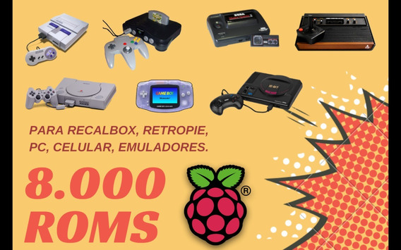 8.000 Roms Raspberry Pi, Recalbox, Retropie, Retro, Android
