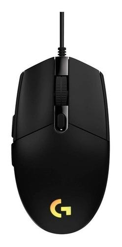 Mouse de juego Logitech  G Series Lightsync G203 negro