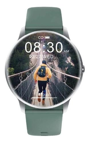 """Imagen 1 de 1 de Smartwatch Imilab KW66 Smart Watch 1.28"""" caja de  aleación de zinc  silver malla  green"""