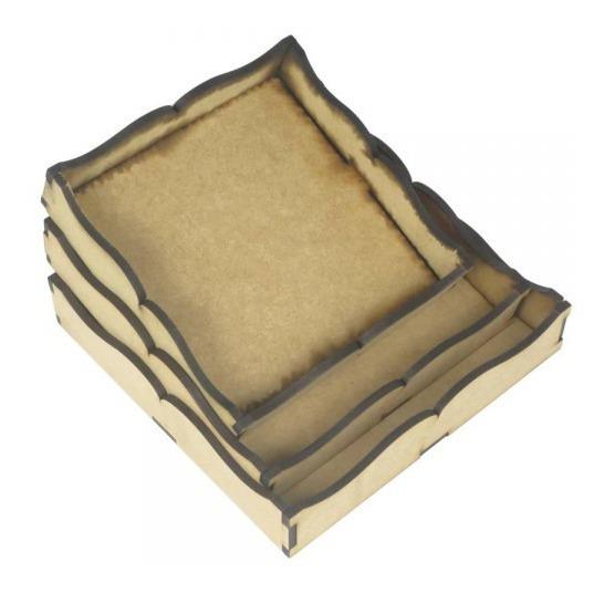 Kit Com 6 Bandejas Lisas - Mdf De 6mm Melhor Qualidade