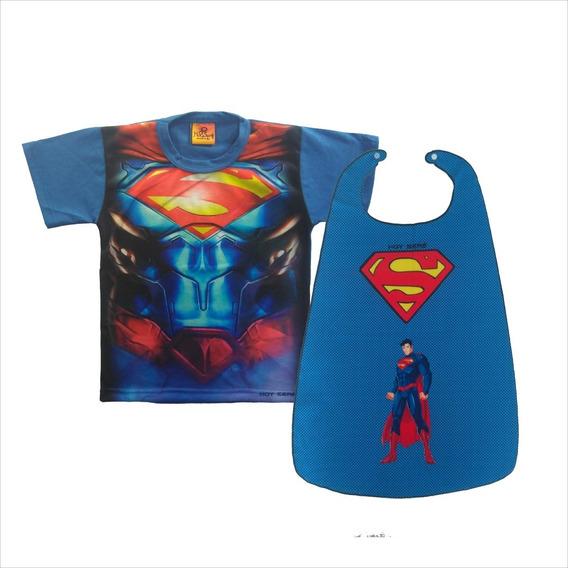 Disfraz Nene Remera Y Capa Superheroe Batman Superman Flash