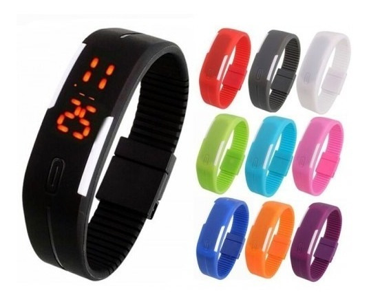 Lote Mayoreo 25 Pz Reloj Touch Led Digital Deportivo Colores