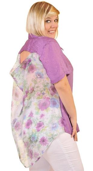 Camisa Portofem Con Buche En Espalda - Talles Grandes