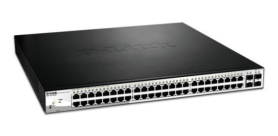 Switch Dgs-1210-52 48 Puertos Poe+ Kit De Rack Incl.