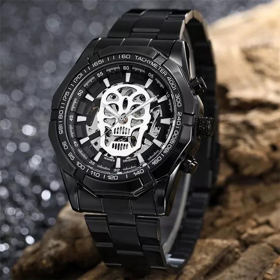 Relógio Winner 486 - Automático Caixa Transparente Aço Inox