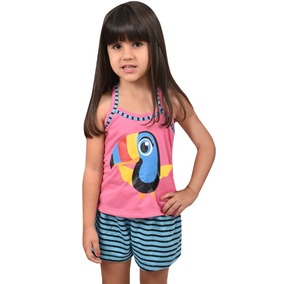 Pijama Infantil Menina Tucano Blusa Com Short