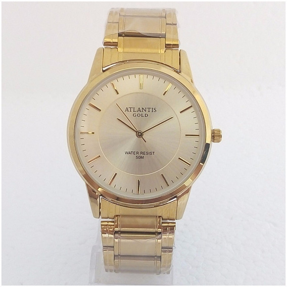 Relógio Masculino Atlantis Gold Original Slim Vip Pv Dagua