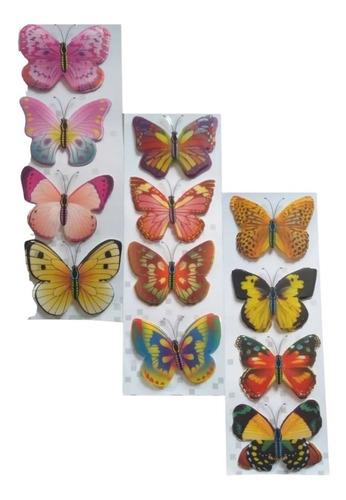 Mariposas En 3d  Pegatinas Mural Decora Casa, Entrego Ya X12