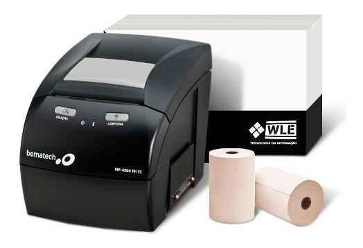 Kit Impressora Bematech Mp-4200 Th Fi + Bobina 80x40 C/ Nf