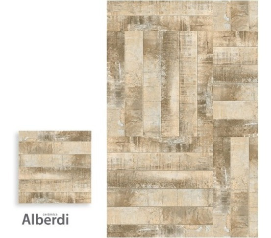 Porcelanato Alberdi 62 X 62 Madera Patinada 1 Era